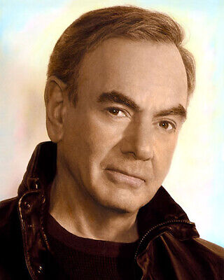 """NEIL DIAMOND AMERICAN ACTOR SINGER SONGWRITER 8x10"""" HAND COLOR TINTED PHOTO"""