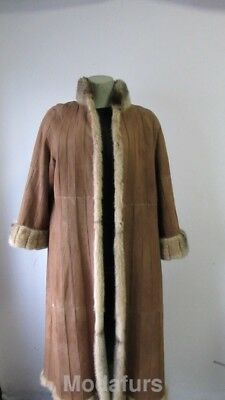 Women's Sz 8 MINT Reversible Suede and Real Mink Fur Coat  END OF SEASON SALE 💰