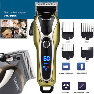 KEMEI Professional Electric Hair Trimmer Men Shaver Barber Haircut LCD Machine