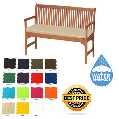 Outdoor Waterproof Fabric 2 & 3 Seater Bench Pad Garden Furniture Seat Cushion