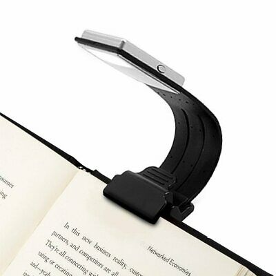 Portable Flexible Folding USB Rechargeable Desk Clip Lamp Dimmable Reading Light