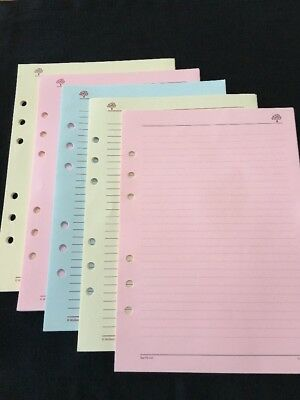 Organiser/Filofax RARE MULBERRY PLANNER COLOURED LINED/PLAIN 48 SHEETS 210x150mm