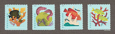 Scott #5363-66 Coral Reefs - PC Rate (Pane Singles Set of 4) 2019 Mint NH