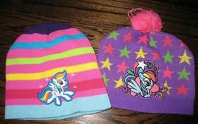 ec82d5bcd MY LITTLE PONY Rainbow Dash Pony Power Winter Hat With Pom and Match ...