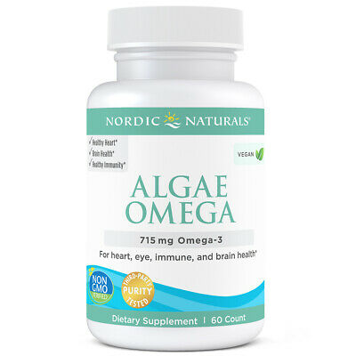 Nordic Naturals Algae Omega - Vegetarian Omega-3s for Eye, Heart, & Brain Health