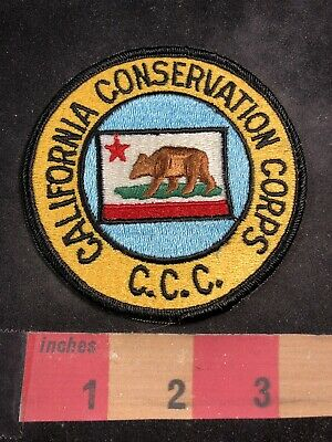 California Conservation Corps CCC Patch - CA Flag Brown Grizzly Bear Theme 00MG