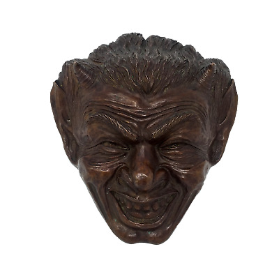 Antique bronze neo-classical gothic satyr mask, pre-1932