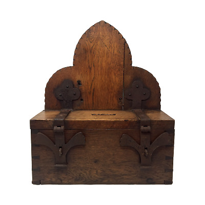 Antique gothic alms box circa 19th century