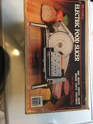 Vintage Rival Electric Food Slicer 1101E/5  Meat & Cheese Slicer Very Good Cond