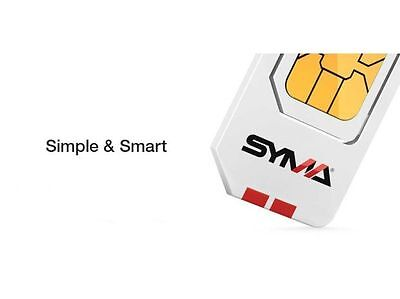 CARTE SIM SYMA: 10 mns Appels Nationaux 10 SMS Nationaux 10 MO Internet INCLUS