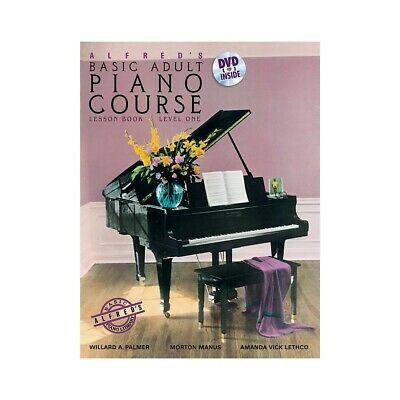 Alfred's Basic Adult Piano Course Lesson Book 1 & DVD
