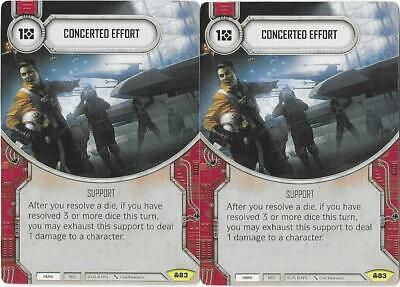 x2 Concerted Effort 83 Uncommon Star Wars Destiny Convergence M//NM