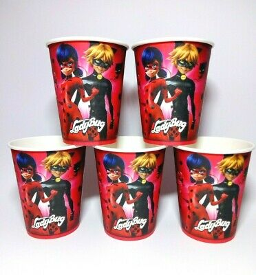 Miraculous Ladybug Cups Party Birthday Supplies Cups Lady bug Cups Set of 10