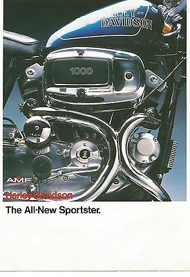 1978 - 1979 Harley Davidson - All New Sportster - Motorcycle Brochure - Original