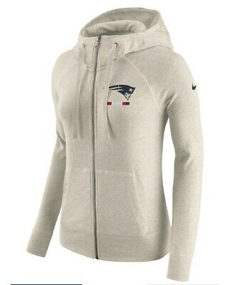8637dd966e96 NIKE NFL NEW England Patriots Gym Vintage Full Zip Hoodie Women s ...