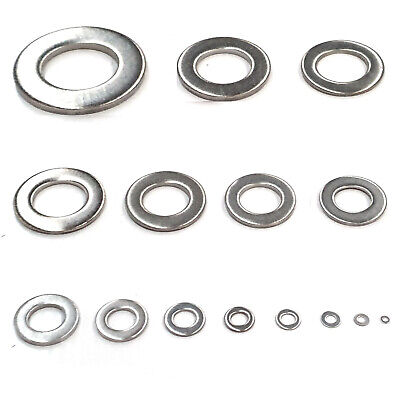 Flat Washers - Form A - To Fit Metric Bolts & Screws A2 Stainless Steel UK Stock