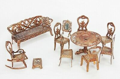 Antique German Gilded Soft Metal Doll House Furniture Ca1910 395 00 Picclick