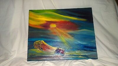 "fine art Original 16X20 acrylic painting signed by artist Terry Lash ""SunRays on"