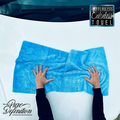 Car Drying Towel 50 x 100cm Edgeless Microfibre Cloth Cleaning Pure Definition