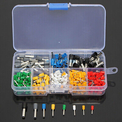 Wire Copper Crimp Connector Insulated Cord Pin End Terminal Kit Set 400PCS ES