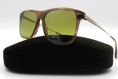 13445f293a TOM FORD FT0588 47N Max-02 TF-588 Transparent Brown Gold Rectangular ...