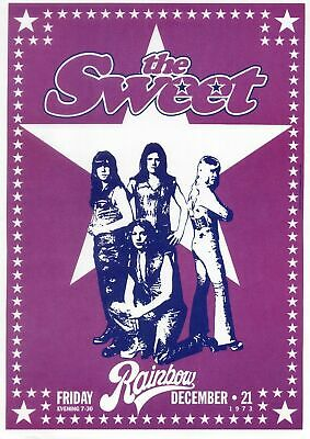 Sweet 1973 - Concert VINTAGE BAND POSTERS Rock Travel Old Advert #ob