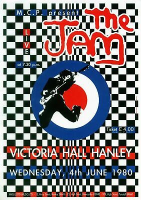 the Jam 1980 - Concert VINTAGE BAND Music POSTERS Rock Travel Old Advert #ob