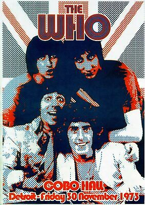 the Who 1973 - Concert VINTAGE BAND Music POSTERS Rock Travel Old Advert #ob