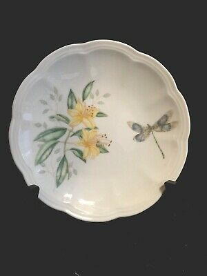 Lenox Butterfly Meadow Dragonfly Bread & Butter Plate, Safely Stored, Mint