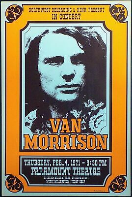 Van Morrison 1971 - Concert VINTAGE BAND POSTERS Rock Travel Old Advert #ob