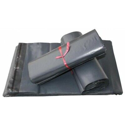 """50 X Strong Grey Mailing Post Mail Postal Bags Poly Postage Self Seal 12"""" x 16"""""""