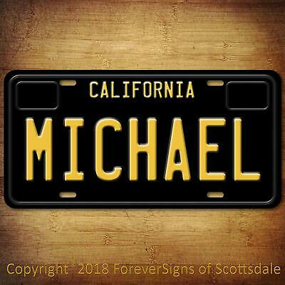 Michael California Name License Plate Aluminum Vanity Tag