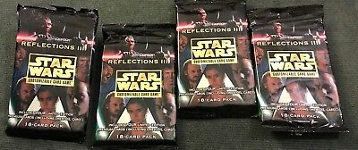 Star Wars CCG Reflections III Lot Of 4 Empty Wrappers