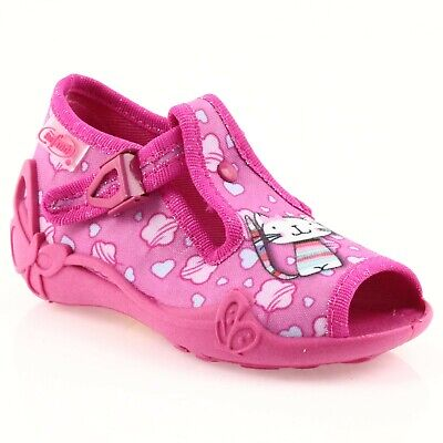 BABY BEFADO girls canvas shoes nursery slippers sandals pumps NEW size 7.5UK