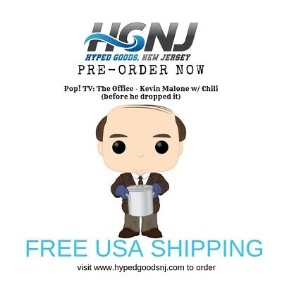 Funko Pop TV The Office Kevin Malone With Chili PRE ORDER FREE POP PROTECTOR