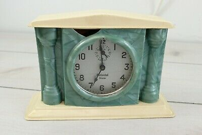 FREE SHIPPING Tractor Alarm Clock W/ Rooster Sound Collectible 11L X 7H X 6W