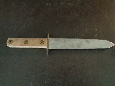 Old Trench Knife WW2 WW11 Theater Type Handmade Vintage Combat Fighting Dagger