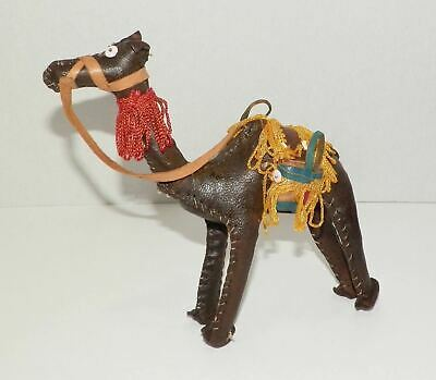 """Dromedary Leather Camel with Saddle 6.75"""" Tall"""