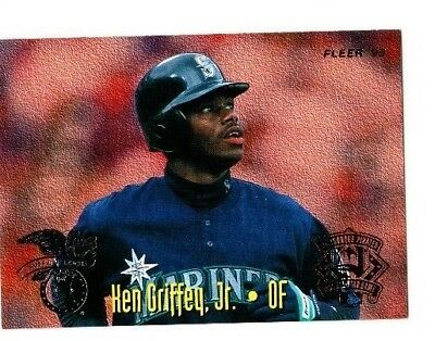 349f66de33 KEN GRIFFEY JR / TONY GWYNN 1995 Fleer ALL STAR GAME #7 SEATTLE MARINERS  Reds