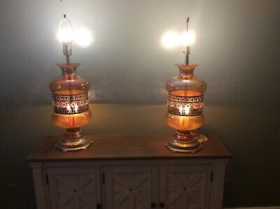 Pair of Vintage Table Lamps ef.ef industries inc. chicago