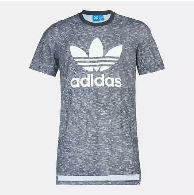 Adidas Originals Trefoil Essential Allover Print T-Shirt AY8360 Men's Large BNWT