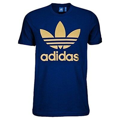 Adidas Originals Trefoil T-Shirt My Sink/Metallic Gold Men's Small Medium XL 2XL