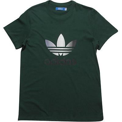 Adidas Originals Trefoil T-Shirt Dark Green Men's Large BNWT FREE SHIPPING!