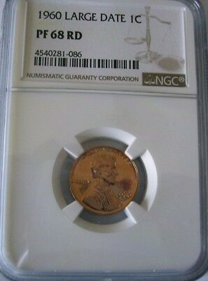 1960 1C Large Date Proof Lincoln Cent NGC PF68RD