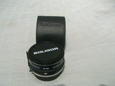 SOLIGOR Auto Tele Converter 2X For Minolta with Case