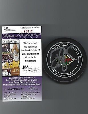check out b0250 dd811 Devan Dubnyk Autographed Minnesota Wild Official Game Puck JSA COA