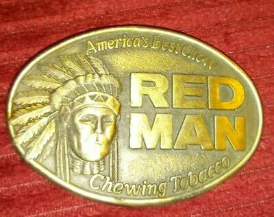 The Pinkerton Tobacco Company 1988 Red Man Chewing Tobacco Belt Buckle