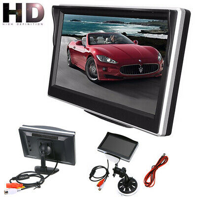 "5"" TFT LCD Display Screen Monitor Parking For Car Rearview Reverse Backup Camera"