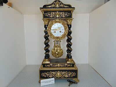 Antique French Exceptional Portico Or Column Clock