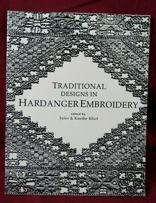 RARE HTF Traditional Designs in Hardanger Embroidery Jules & Kaethe Kliot LACIS